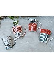 Porcelain Mug 4 Piece