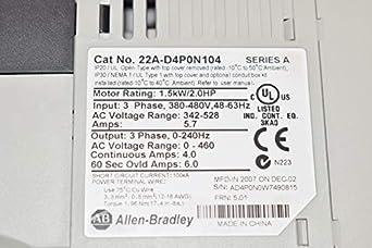 Allen Bradley, Power Flex 22A-D4P0N104 AC Drive T30228