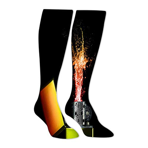Flame Lighter Men's High-Bar Exercise Pressure Muscle Compression Socks Perfect for Use By Sportsman