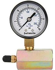 "Solimeta 2"" Gas Test Pressure Gauge, Natural Gas Pressure Test Gauge, 3/4"" FNPT Connection, 30psi Test Gauge, -3-2-3% Accuracy"