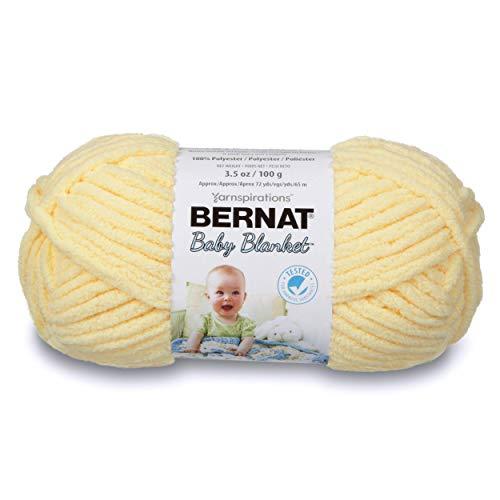 Bernat Baby Blanket Yarn, 3.5 oz, Gauge 6 Super Bulky, Baby Yellow (Super Bulky Yellow Yarn)