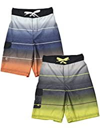 Jachs NY 2-Pack Quick Dry Beach Boys Swim Trunks Board Shorts