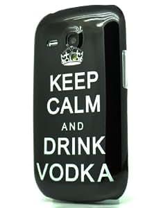 Wellmobile Funda de Rígido Carcasa Keep Calm And Drink Vodka Case Cover Para Samsung Galaxy S3 Mini i8190