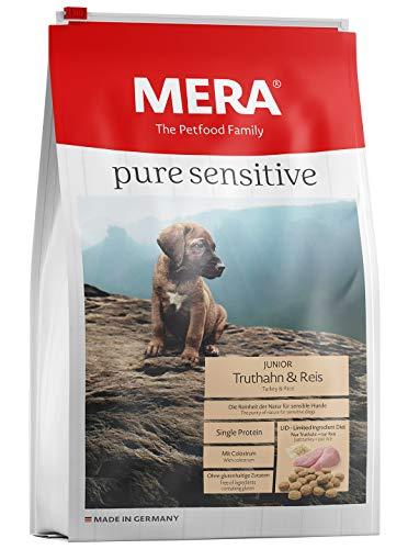 MERA Pure Sensitive Junior Truthahn und Reis Welpenfutter – Trockenfutter für die tägliche Ernährung nahrungssensibler…