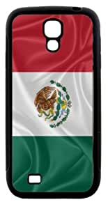 Rikki KnightTM Mexico Flag Design Samsung\xae Galaxy S4 Case Cover (Black Hard Rubber TPU with Bumper Protection) for Samsung Galaxy S4