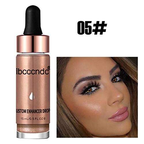 Shimmering Jane Powder - Shimmer Glitter Concealer Liquid Highlighter Long-lasting Waterproof Women Face Glow High Light Health 6 Colors Makeup Highlighter Liquid (E)