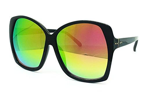 O2 Eyewear 7206 Premium Oversize XXL Mirror Women Fashion Revo Retro Sunglasses (OVERSIZED, - Sunglasses Color Multi
