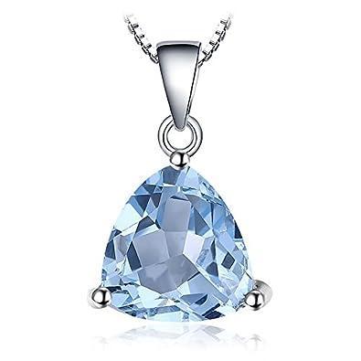 Magnifique pendentif en argent et pierre précieuse en topaze bleu ciel