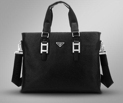Mylux 1888-4 Laptop Travel 100% High End Genuine Leather Briefcase black