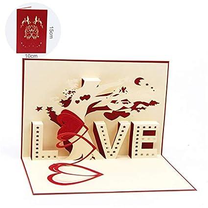 Tarjeta de felicitación 3D desplegable, tarjeta de ...