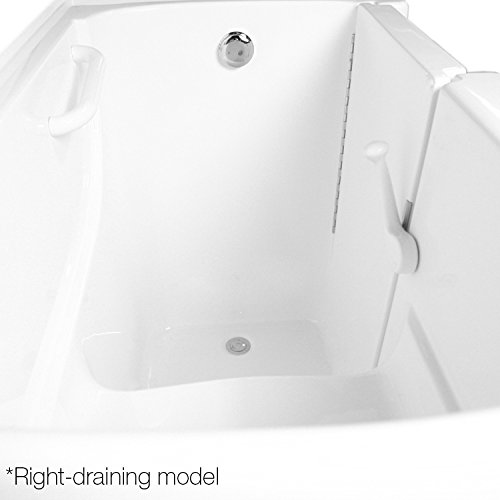 Ariel EZWT-3054-SOAKER-R Walk in Bathtub Right Side Drain, White by Ariel Bath