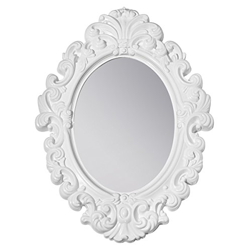 Kids Locker Room Furniture (3C4G Three Cheers For Girls White Baroque Magnetic Locker Mirror / Room Mirror)
