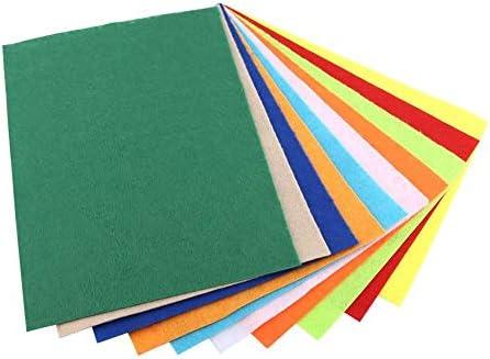 10ピース混合ランダム色不織布スクエアフェルトシート用ミシンクラフトdiyギフト家の装飾学習玩具20 * 30センチ