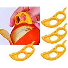 Orange Citrus Peeler - EZpeel Brand 2 Hole Style Tool by RawNori