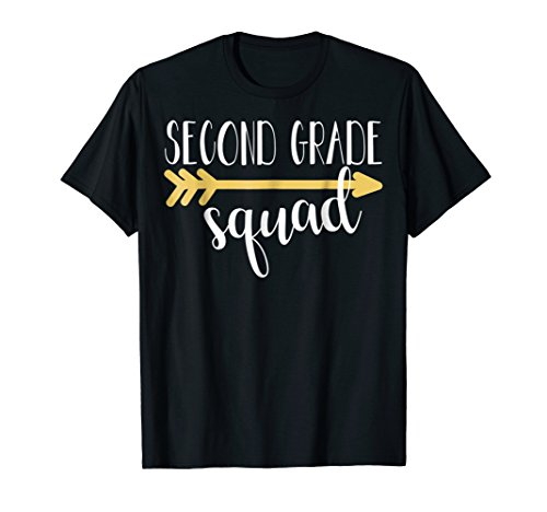 Second Grade Squad Teacher Shirt For Woman And 2nd Graders