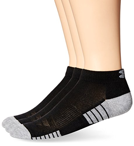 Under Armour HeatGear Tech Lo Cut Socks, Black, Shoe Size: Mens 8-12, Womens 9-12