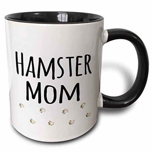 3dRose 154050_4 Hamster Mom Mug, 11 oz, Black