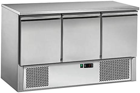 Saladette/Kühltisch ECO - 1,37 x 0,7 m - mit 3 Türen
