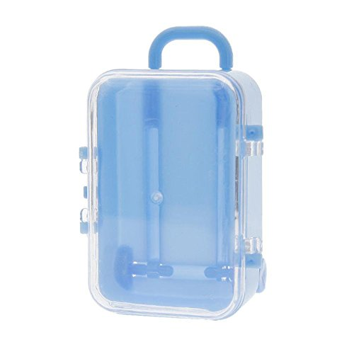 TOPmountain Plastic Rolling Mini Travel Suitcase Shaped Candy Box Wedding Favors Party Decor Toy Storage Case Holder Container