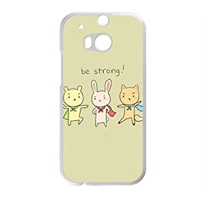 Creative Be Srtong Rabbit Cell Phone Case For HTC M8