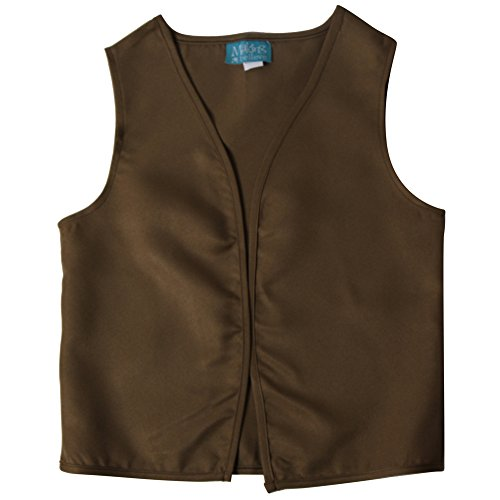 Boys Peasant Costume Vest (X-Large 10/12, Khaki/Olive Brown)