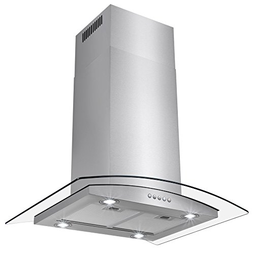 AKDY 36″ Euro Style LED Lights Stainless Steel Island Mount Range Hood.