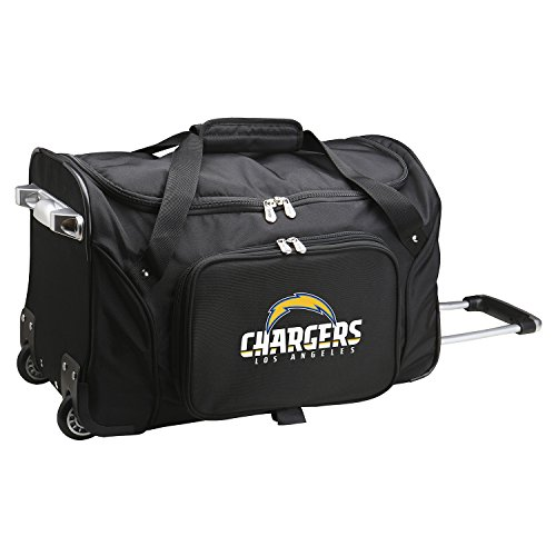 NFL Los Angeles Chargers Wheeled Duffle Bag by Denco