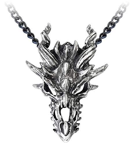(Dragon Skull Pendant by Alchemy Gothic, England)