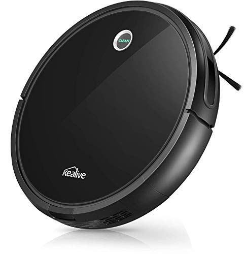 2020 New Version Robot Vacuum, 2000Pa Super-Strong Suction, 130 min Runtime, 360° Smart Sensor Protection System, Super-Thin, Self-Charging Robotic Vacuum, Cleans Hard Floors to Pile Carpets