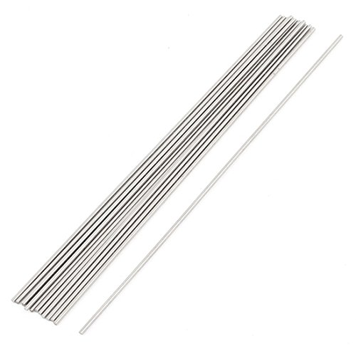 uxcell 15Pcs Steel Rod 1mm Dia 100mm Long for Lathe Stock Replacement