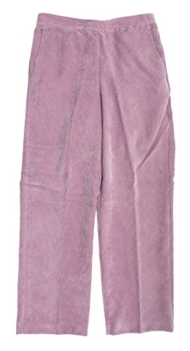 Alfred Dunner Glacier Lake Flat Front Corduroy Pants Raspberry Ice 18 M
