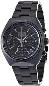 Onitsuka Tiger OTTC0104 - Reloj cronógrafo de cuarzo para hombre con correa de acero inoxidable, color negro