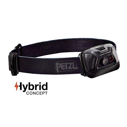 PETZL - TACTIKKA Headlamp, 200 lumens, Ultra-Compact Headlamp, Black