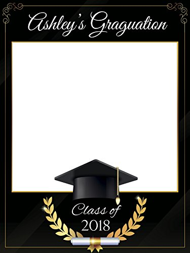 Custom Graduation Photo Booth Frame Prop - Size 36x24, 48x36; Personalized College or University Degree Photo Frame, Class of 2018 - Handmade DIY Party Supply Photo Booth (Custom Photo Booth Props)