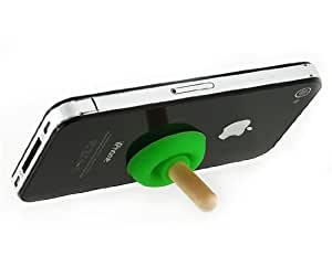 Silicone Pumping Toilet Stand Holder for Mobile Phone/ MP4 (Green)