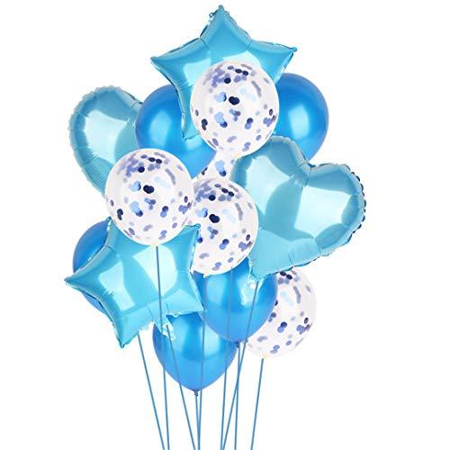 14Pcs Creative Multi Confetti Air Balloons Happy Birthday Party Helium Balloon Decorations Wedding Festival Balon Party Supplies -