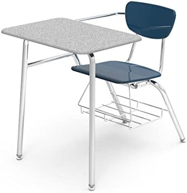 Amazon Com Virco 3400brm Blu51 Gry91 Student Chair Desk With