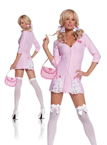 Elegant Moments Womens Cute Kandi Striper Party Outfit Fancy Dress Sexy Costume, M (6-10)