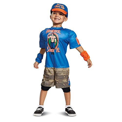 Disguise John Cena Toddler Muscle Child Costume, Blue, -
