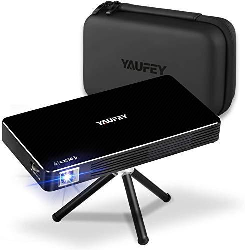 Yaufey Mini DLP projector, 150 ANSI lumen Android 7.1 kleine thuisbioscoop video beamer met 1080p resolutie…