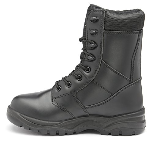 Free Leg Z070 High Boots Zephyr Security Metal Premium Combat SRC Black Leather Z1fa4U