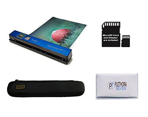 VuPoint Magic Instascan PRO Smart Portable Scanner, Auto Feed, Wi-Fi, 8GB Micro SD Card, Protective Carrying Case, JPEG/PDF, Color/Mono, 1.5' LCD, 1200 DPI, Document and Photo (Blue)