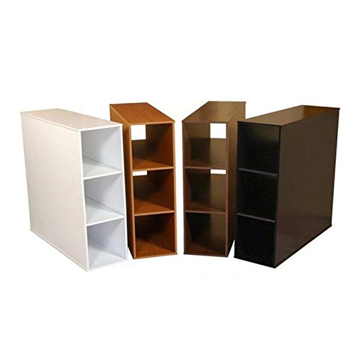 Project Center 3 Bin Open Storage Cabinet in Black Finish by Venture Horizon