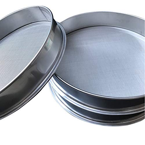 10-200 Mesh Screen Full Stainless Steel Sieve Mesh Vibrating Screen Accessories Use for Home,Kitchen,Baking,Flour,Corn, Sugar, Beans Multipurpose Mesh Screen (Diameter: 3.9inch) by FSYD (Image #5)