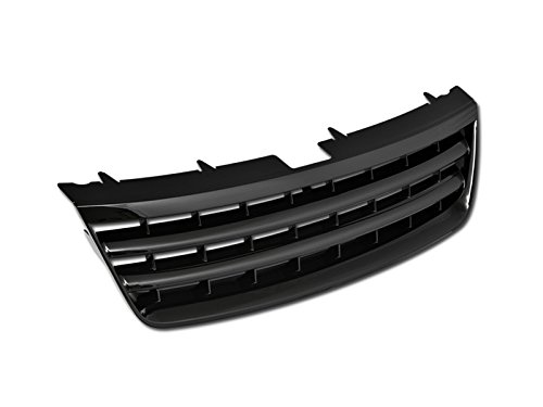 Autobotusa Black Finished Horizontal Front Hood Bumper Grill Grille Guard Cover for 2003-2007 Volkswagen Touareg -