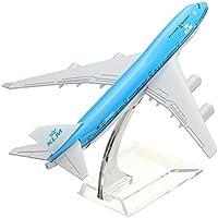 New NEW 16cm Metal Plane Model Aircraft B747 KLM Aeroplane Scale Airplane Desk Toy By KTOY