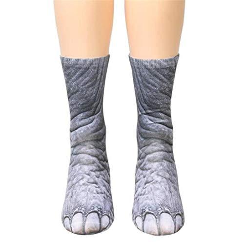 FORUU 6-12 Years Old Children Kids Animal Paw Crew Socks Sublimated Print -