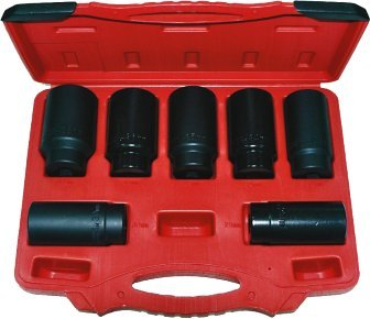 T&E Tools 7 PIECE FWD AXLE SPINDLE NUT SOCKET SET - 6037