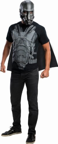 Rubie's Costume Superman Man of Steel, General Zod T-Shirt with Cape, Black/Gray, Large (Superman: Man Of Steel Cape)