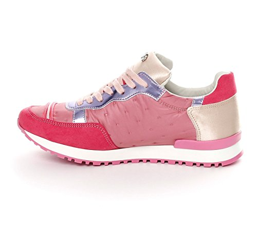 Piumino rosa Scarpe Big in Trappi Sneakers L4k3 raso Woman Ecosuede Mr Lake nfAawqF6x8